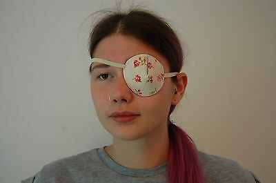 Medical Eye Patch, ROSES. Soft/Washable. For Left or right Eye. Sold to the NHS