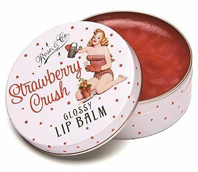 New Rose And Co Strawberry Crush Glossy Lip Balm New Sold For Hospice