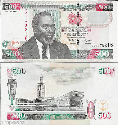Kenya 2009 - 500 shillings - Pick 50 UNC