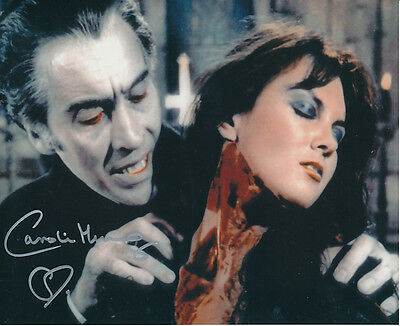 Caroline Munro SIGNED photo - Dracula A.D. 1972 - J41