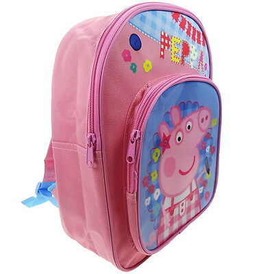 NEW OFFICIAL Peppa Pig Girls Kids Backpack Rucksack Nursery School Bag