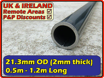 Mild Steel Round Tube (pipe, iron, pole, tubing) | 21.3mm ( 20mm) 2mm | metre ft