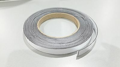 MAGNETIC RECEPTIVE Tape Self Adhesive White face strip 12.5mm wide 10m LONG
