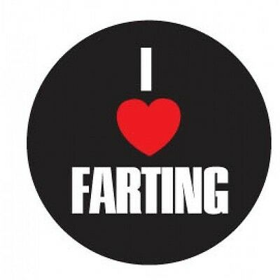 I Heart (Love) Farting Funny 3 Inch Round Pin on Button Metal Joke Gag Gift