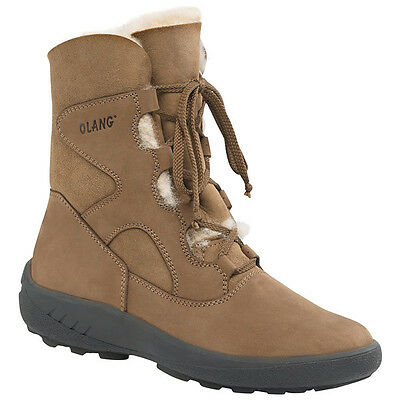Womens Olang Lappone OC Winter Boots Tan UK8