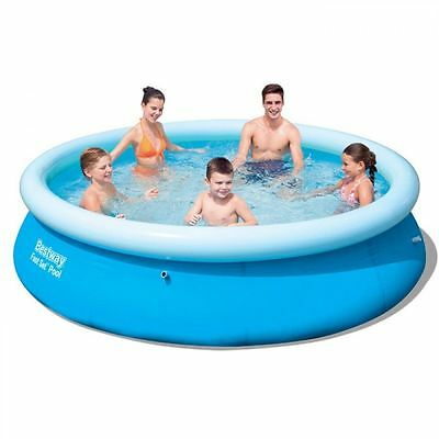 Bestway Fast Set Round Inflatable Family Swimming Paddling Pool - 10ft