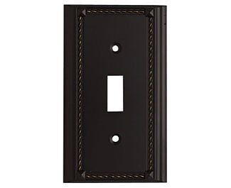 ELKL-2501AGB-Elk 2501AGB Aged Bronze Single Switch Plate