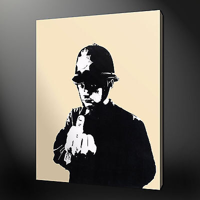 Banksy Rude Copper Canvas Print Picture Variety Of Sizes Available