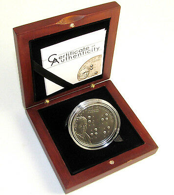 PALAU: 2009 5$ LOUIS BRAILLE SILVER 92.5% MINTAGE 2500 CoA FIRST BRAILLE COIN