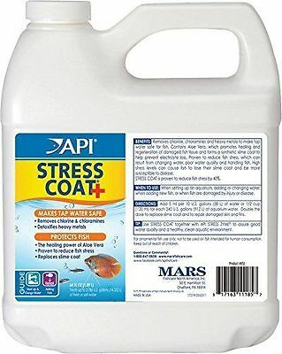 Api Stress Coat + 1.9L Fish Tank Water Conditioner 1.9 Litre 1.9 Tropical 1.9Ltr