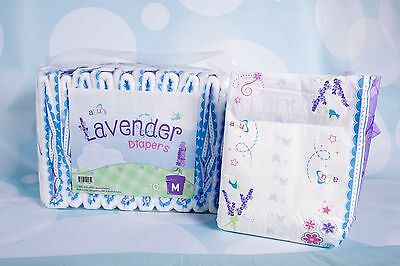 ABU Lavender, Adult Diapers, ABDL, 10/pack or case of 80