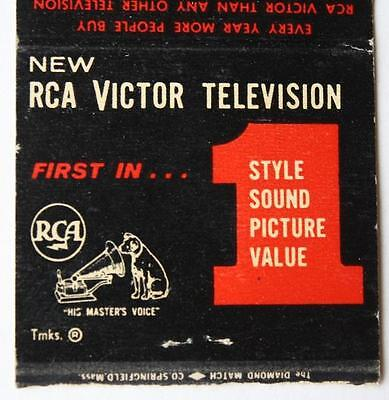 1950s Indianapolis,Indiana RCA-Victor Aid TV repair matchbook-N.College Avenue!