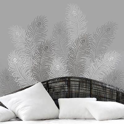 Peacock Feather Grande Stencil - Size LARGE - By Cutting Edge Stencils