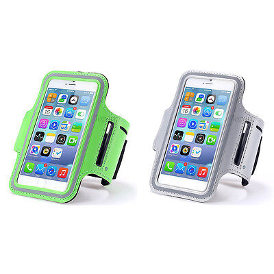 Lot 2 Brassards Sport Telephone Silver + Vert Pour Apple Iphone 6 6S