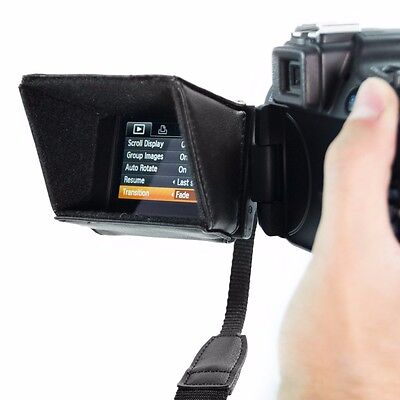 LCD Screen Sun Shield for DSLR Cameras and Camcorders Compatible with Canon EOS