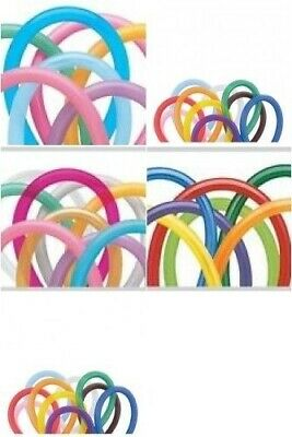 100 x Qualatex 260Q Modelling Balloons Various Assortments Choose Required Mix
