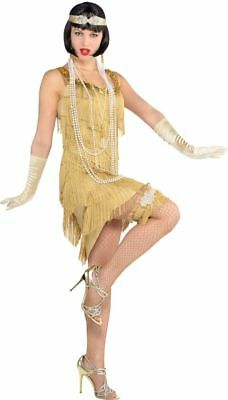 20's Flapper Costume Ladies Charleston Fancy Dress Hen Night Party Adult Outfit