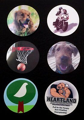 "Custom 2"" Round Metal Disc - Design Your Own With Photos-Text-Graphics Or Logos"