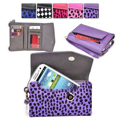Furry Spotted Wrist-Let Case Clutch Cover & Organizer for Smart-Phones ESMK6