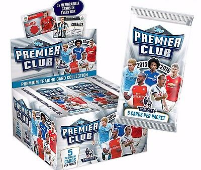 TOPPS Barclay's Premier League PREMIER CLUB 2016 Trading Cards 4 x 5 Card Packs