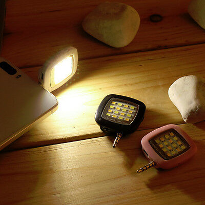 3.5mm 16 LED Camera Selfie Smart Fill Light For Android IOS iPhone 5s 6 Plus