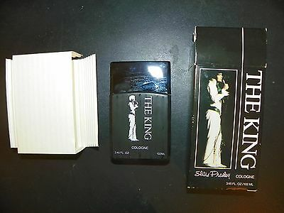 NEW Vintage RARE ELVIS PRESLEY THE KING CONCERT COLOGNE Home Shopping -X