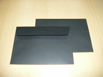 20 C6 BLACK COLOURED 120gsm PEEL & SEAL QUALITY WALLET ENVELOPE 114x162mm FOR A6