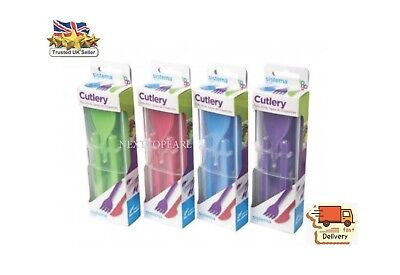 Sistema To Go Fold Away Cutlery Set Knife, Fork, Spoon & Chopsticks, NEW