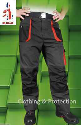 Mens Combat Cargo Work Trousers Protective Heavy Duty Pants Knee pads pockets