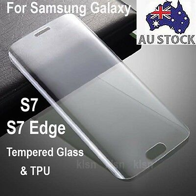 3D Full Coverage Clear/Tempered Glass Screen Protector Samsung Galaxy S7 S7 Edge