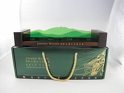 Johnnie Walker Whisky Green Label TAIWAN WONDERS Bottles Stand / Display NEW