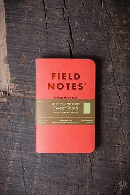 Field Notes // Sweet Tooth 3 Pack // Red Aqua Yellow // RRP £10