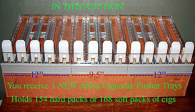 3 Pull-Out Pusher Trays Add To Your Existing Cigarette Rack Or Display