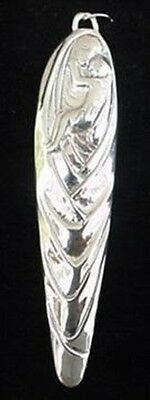 """Madonna & Child Sterling Silver Christmas Ornament Hand and Hammer 3.5"""" High"""