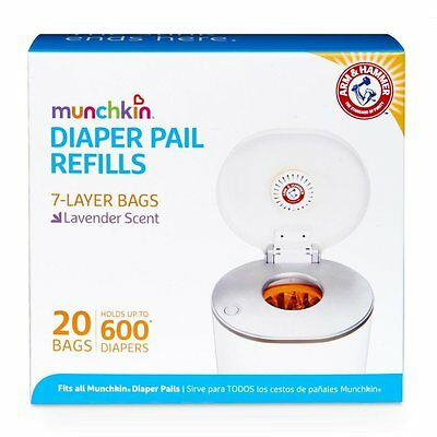 Munchkin Arm Hammer Diaper Pail Snap Seal and Toss Refill Bags 600 Count 20 Pack