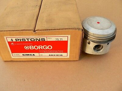 Simca 1500 Pistons, Simca Kolben 75,71 mm oversize, New in Box , 4 pistons