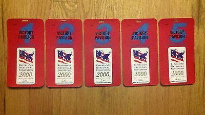2000 Republican National Convention Credentials President George W. Bush Ticket