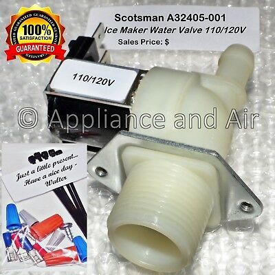 Scotsman A32405-001 Ice Maker Water Solenoid Valve 110/120V FREE / FAST Shipping