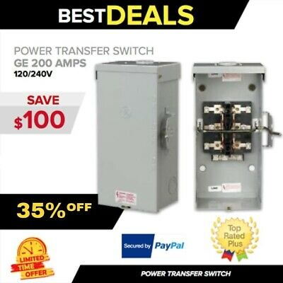 TRANSFER SWITCH Ge 200 Amps 120/240V , manual , portable generator , fast ship