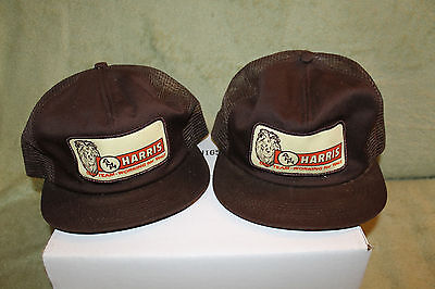 Vtg Snapbacks AHH Harris Our Team Working For You Construction Supplies 2 Hats