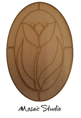Oval Tulips - Wooden Cut-out - 400x270mm