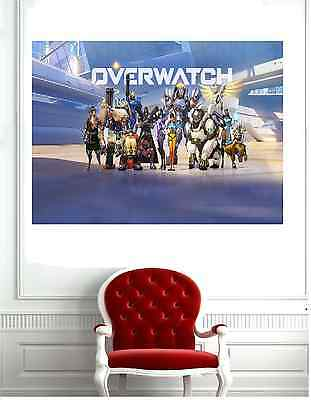 Overwatch Characters  Poster Print ( Different Sizes ) A4 / A3
