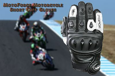 MotoForce® Motorbike Leather Gloves;Racing and Sports Gloves