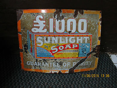 Sunlight Soap Enamel Sign (609)