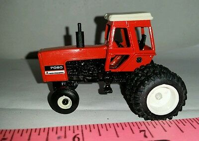 1/64 Custom Agco Allis Chalmers 7080 Tractor Black Belly Duals Ertl Farm Toy