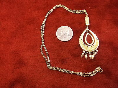 Beautiful Vtg Antique Victorian Yellow & Rose Gold Pinchbeck? Lavalier Pendant