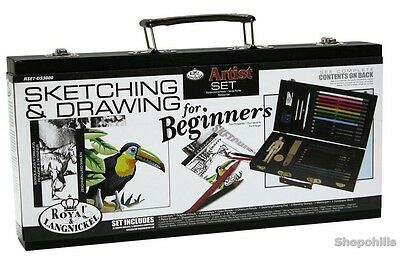 Drawing Set Sketching Beginners Art Pencils Kit Gift For Artist School Kids Arts
