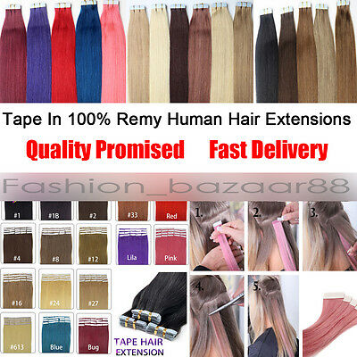 """Seamless PU Skin Weft Tape in 100% Real Human Hair Extensions 20pcs/lot 16-26"""""""
