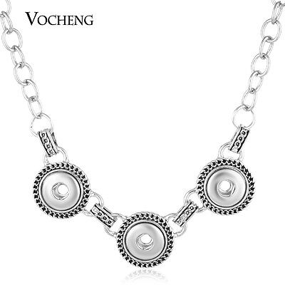10pcs/lot Vocheng Snap Chunk Alloy Combo Necklace Fit Small 12mm Charm NN-484*10