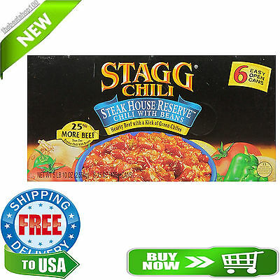 Stagg Chili Steakhouse Reserve Chili with Beans, 90 Ounce